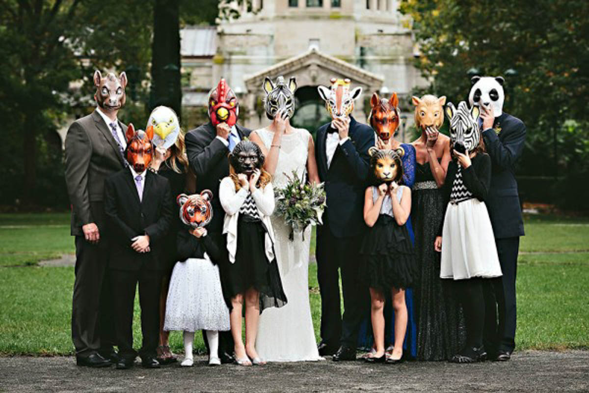 Animal Masks At The Zoo