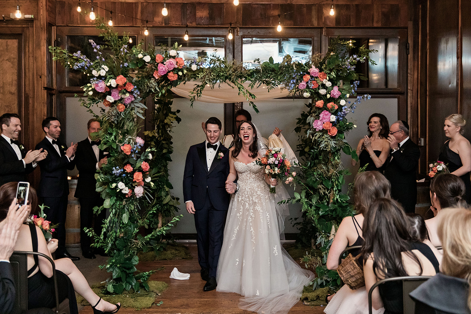 Pink Chuppah with Greenery